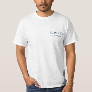 Capitán personalizado básico Tee - camisa de