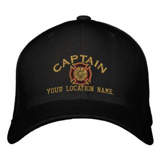 Capitán personalizado Cap Embroidery del bombero Gorra De Béisbol Bordada