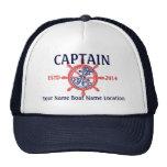 Capitán personalizado del capitán primer compañero gorras