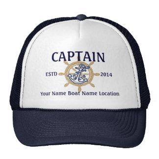 Capitán personalizado del capitán primer compañero gorro de camionero