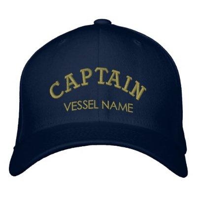 Capitán personalizado Hat del nombre del barco Gorras Bordadas