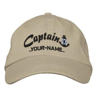 Capitán personalizado Lifesaver Anchor Name Black Gorras De Beisbol Bordadas
