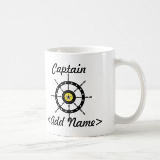 Capitán personalizado Mug Taza Básica Blanca
