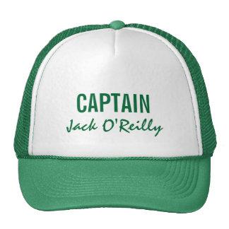 Capitán personalizado verde gorro