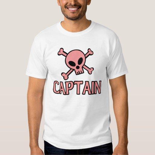 Capitán Pink Skull Remeras