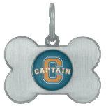 Capitán Placa De Nombre De Mascota