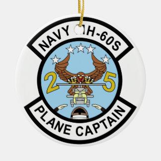 Capitán plano de la marina de guerra MH-60S Ornamento Para Arbol De Navidad