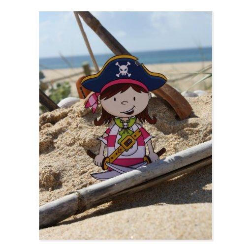 Capitán Postcard del pirata del chica Tarjetas Postales