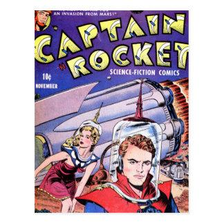 Capitán Rocket Comic Postales