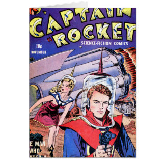 Capitán Rocket Comic Tarjeta De Felicitación