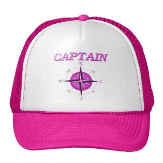Capitán rosado con el rosa de compás gorra