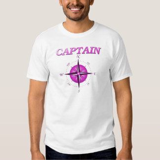 Capitán rosado con el rosa de compás remera