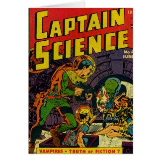 Capitán Science Tarjeta De Felicitación