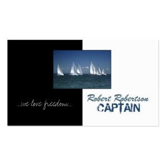 Capitán Ship Nautical Card del barco de vela Tarjetas De Visita