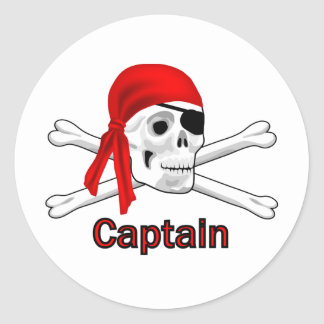 Capitán Skull del pirata y pegatina de los huesos