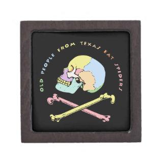 Capitán Skull Mnemonic Caja De Joyas De Calidad