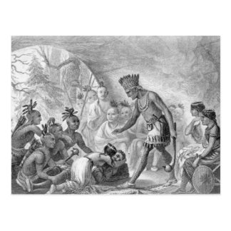 Capitán Smith rescatado por Pocahontas Tarjeta Postal