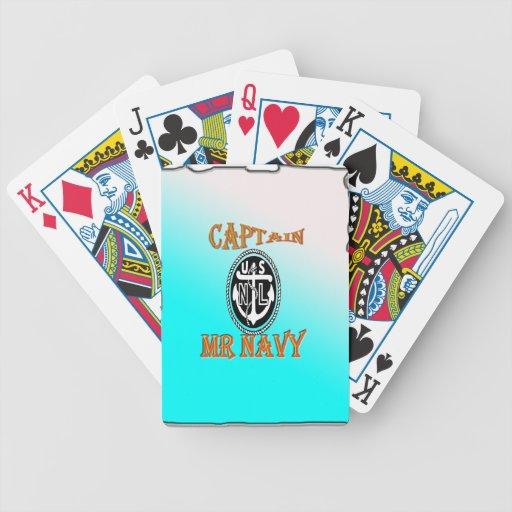 CAPITÁN Sr. NAVY con pendiente Baraja Cartas De Poker
