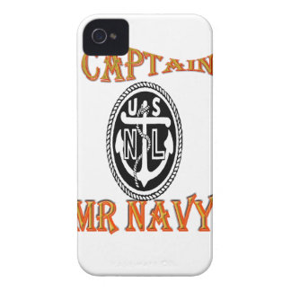 CAPITÁN Sr. NAVY iPhone 4 Protectores