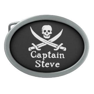 Capitán Steve Hebilla Cinturón Oval