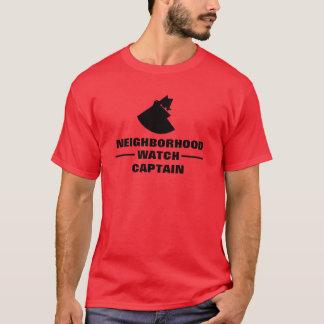 Capitán T-Shirt de la vigilancia vecinal Playera