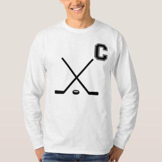 Capitán T-Shirt del hockey sobre hielo Playera