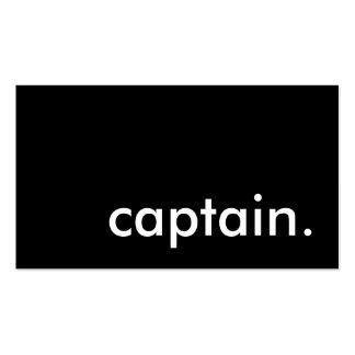 capitán tarjetas de visita
