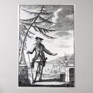 Capitán Teach, comúnmente llamada Blackbeard Posters