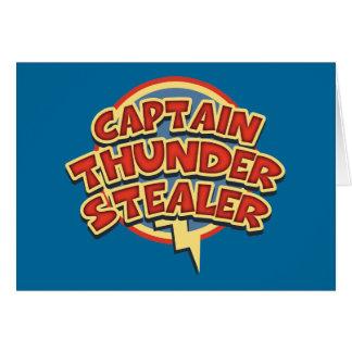 Capitán Thunderstealer Tarjeta De Felicitación