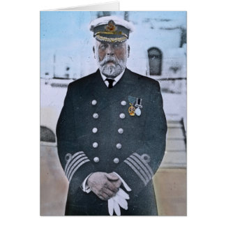 Capitán titánico Edward J. Smith del RMS Felicitaciones