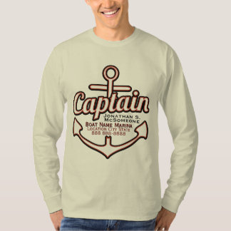 Capitán totalmente personalizado Anchor Nautical Playera
