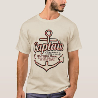 Capitán totalmente personalizado Anchor Nautical Playera