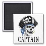 Capitán tuerto del pirata imán de frigorifico