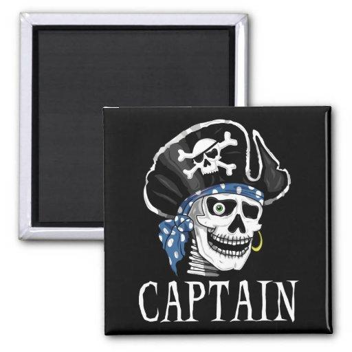 Capitán tuerto del pirata iman para frigorífico