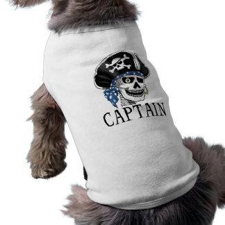 Capitán tuerto del pirata playera sin mangas para perro
