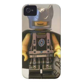 Capitán Vortex Black y traje y cabo de plata iPhone 4 Case-Mate Protectores