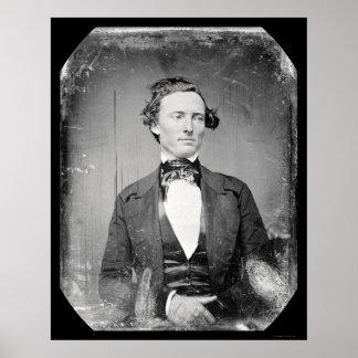 Capitán Walker Daguerreotype 1846 de las Texas Ran Poster