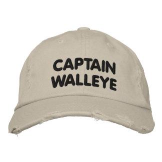 Capitán Walleye - pesca de los leucomas Gorras Bordadas