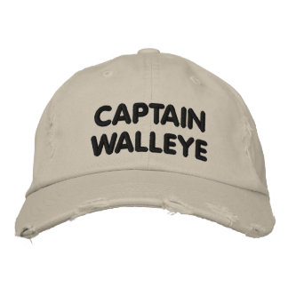 Capitán Walleye - pesca de los leucomas Gorra De Beisbol Bordada