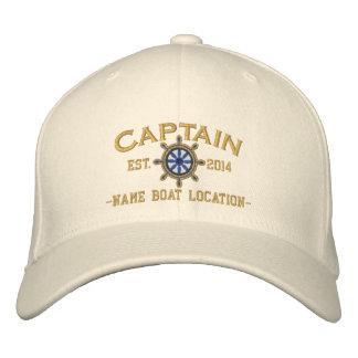 Capitán Wheel del AÑO y de los nombres de Gorros Bordados