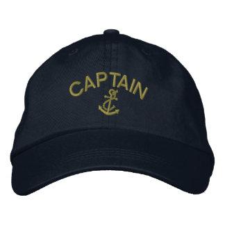 Capitán With Anchor Gorras Bordadas