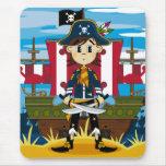Capitán y nave Mousepad del pirata Alfombrilla De Raton