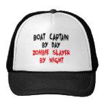Capitán Zombie Slayer del barco Gorros Bordados
