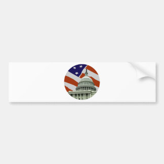 Capitol American Flag Bumper Sticker