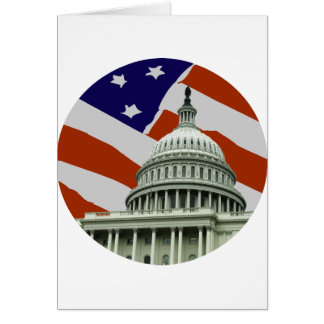 Capitol American Flag Cards