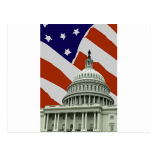 Capitol American Flag Post Cards
