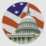 Capitol American Flag Stickers