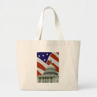 Capitol American Flag Tote Bags