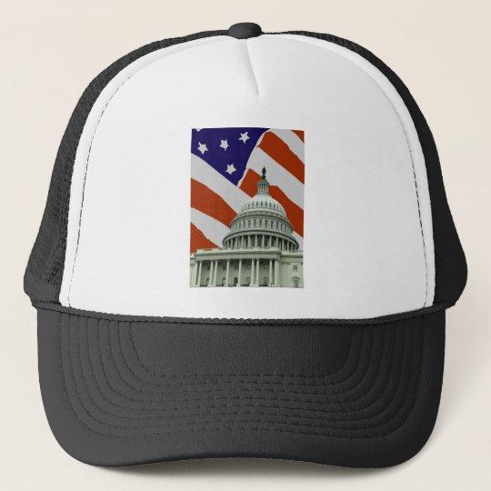 Capitol American Flag Trucker Hat