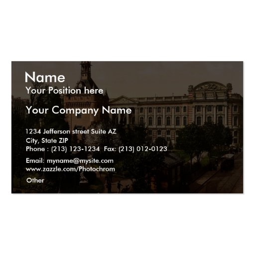 Capitol and public gardens, Toulouse, France vinta Double-Sided Standard Business Cards (Pack Of 100)